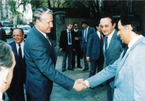 Румен Георгиев и Борис Елцин.