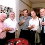С Професорите (от ляво надясно): Никола Вълче, Благой Колев, Митко Димитров