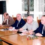 От ляво надясно: Журналиста Тома Томов, Проф. д.ик.н. Нансен Бахар, Акад. Ячко Иванов